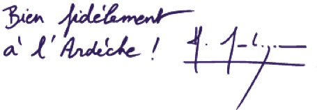 Bien fidèlement à l'Ardèche, Hervé Saulignac