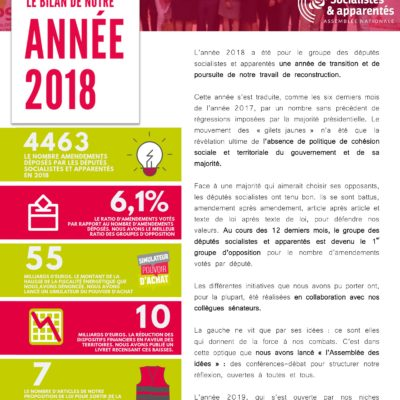 Bilan groupe Socialistes 2018