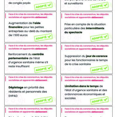 10 propositions adoptées pour faire face à la crise sanitaire