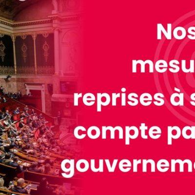 Quand le Gouvernement prend des mesures... proposées par le groupe Socialistes & apparentés !