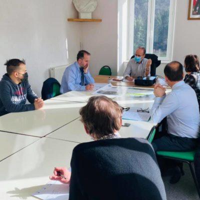 23-02-21 réunion de travail sur la question du très haut débit internet avec Bernard Justet, le maire, son équipe et le directeur de l'EHPAD de Marcols-les-Eaux