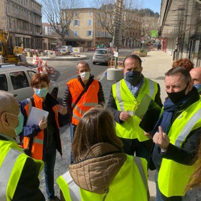 26-02-21 visite chantier du giratoire Charles de Gaulle à Privas