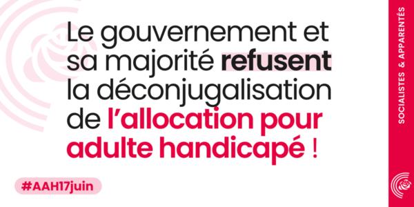 La majorité refuse aux personnes handicapées leur dignité !