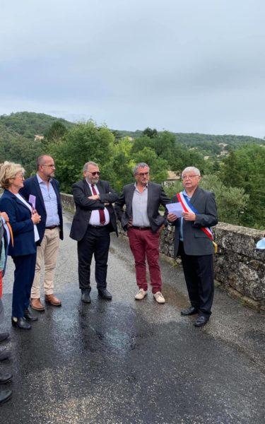 Visite du ministre délégué à la ruralité en Ardèche