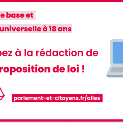 « Minimum jeunesse » : participez à la rédaction de la proposition de loi AILE(S)