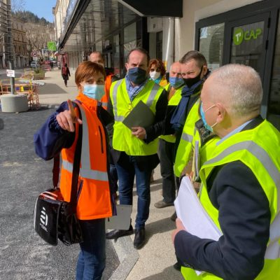 26-02-21 visite chantier du giratoire Charles de Gaulle à Privas 2